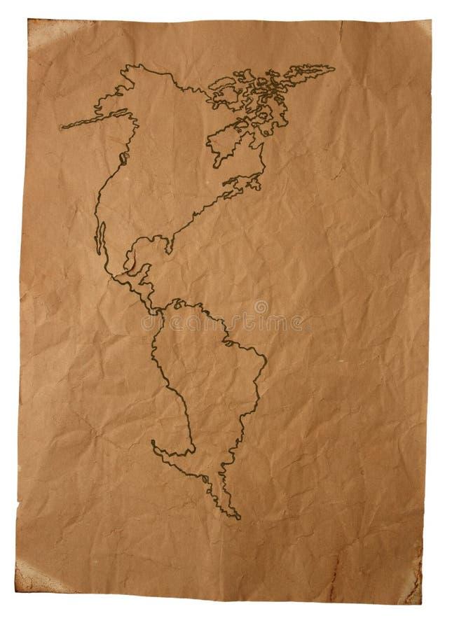 Mapa velho imagem de stock royalty free