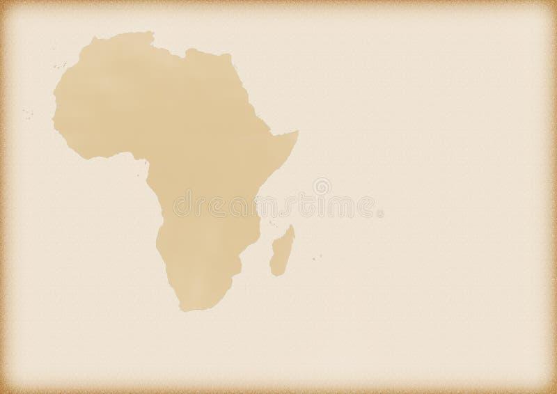 Mapa velho de África imagens de stock royalty free