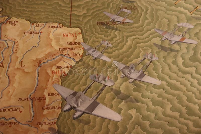 Mapa velho de Brasil ilustração do vetor