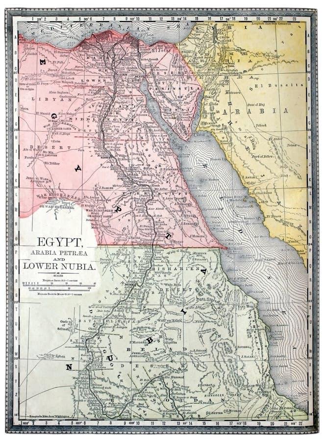 Mapa velho de Egipto.