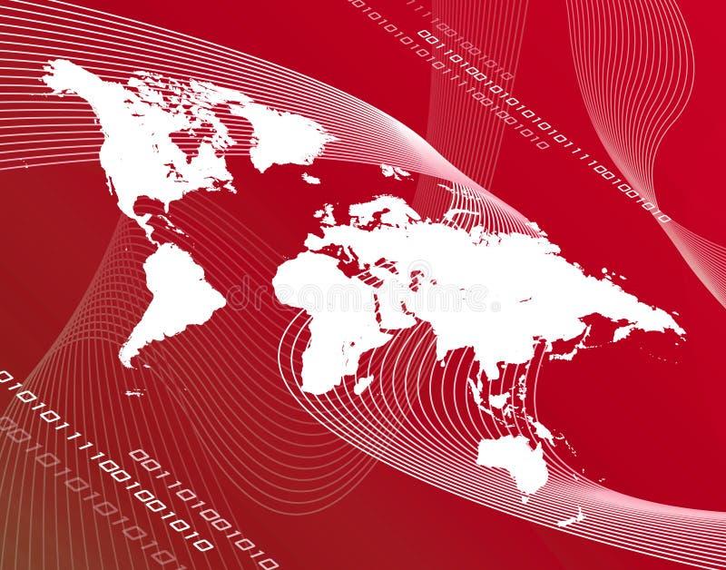 Mapa vermelho ilustração stock