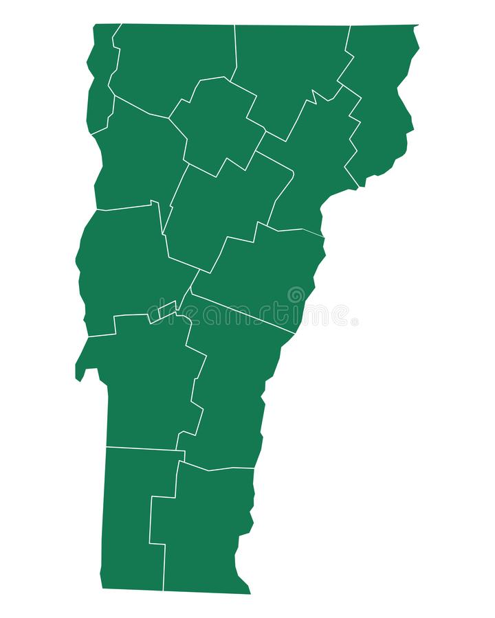 Mapa Vermont royalty ilustracja