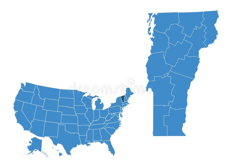 Mapa Vermont stan ilustracja wektor