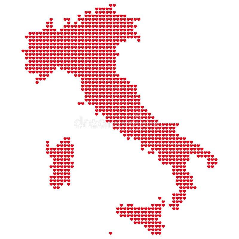 mapa włochy ilustracji