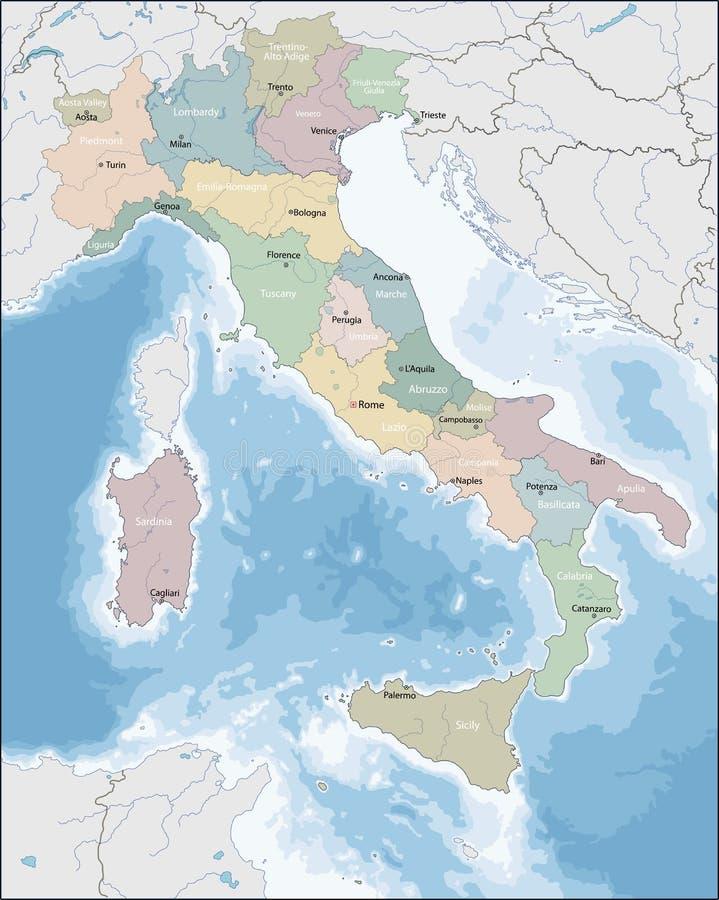 mapa włochy ilustracja wektor