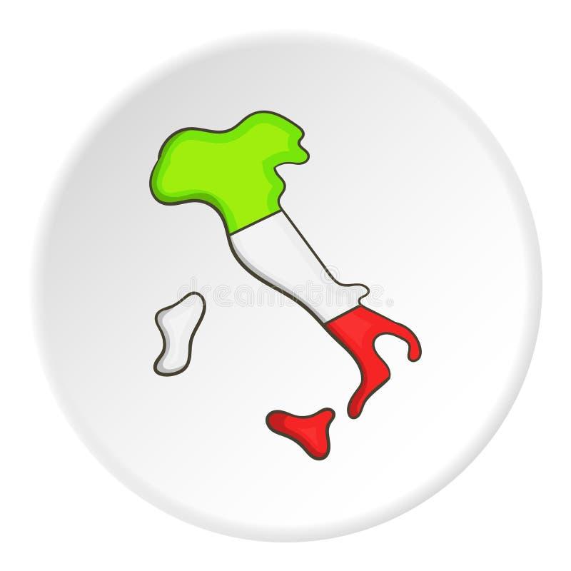 Mapa Włochy ikona, kreskówka styl ilustracja wektor