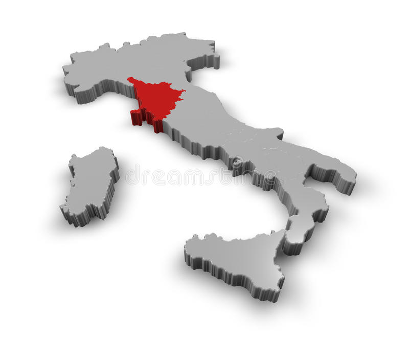 Mapa Włochy Tuscany ilustracja wektor