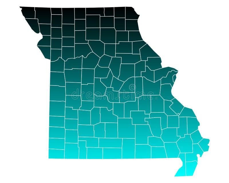 mapa w Missouri ilustracji
