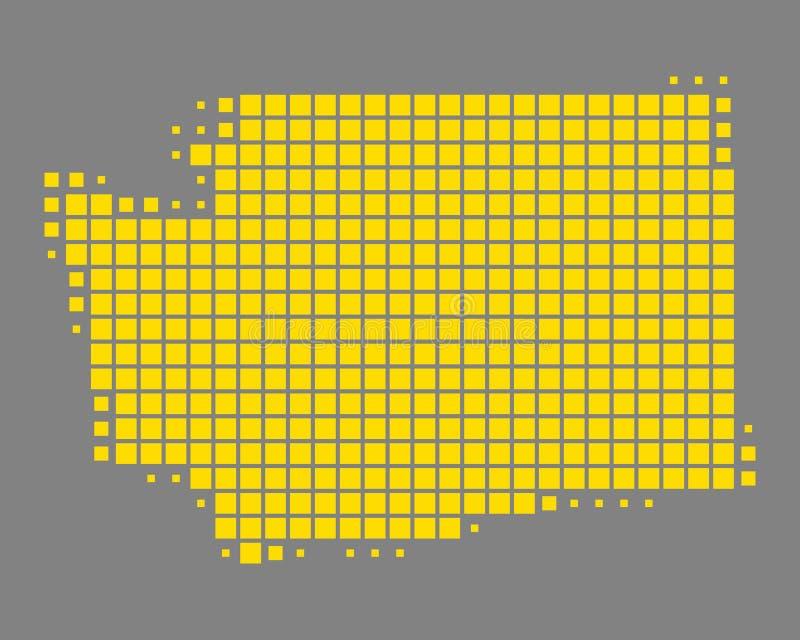 mapa Washington ilustracja wektor