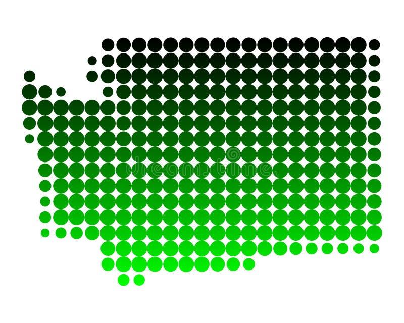 mapa Washington royalty ilustracja