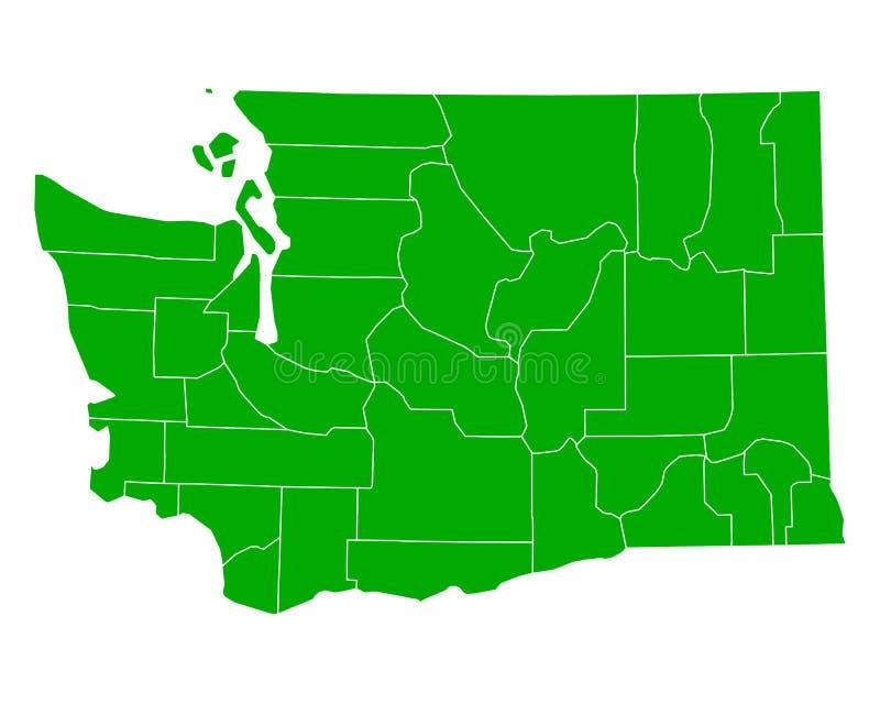 mapa Washington ilustracji