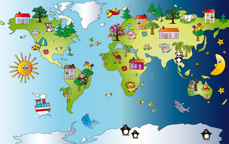 Download Mapa świat ilustracja wektor. Obraz złożonej z dzień - 14768889