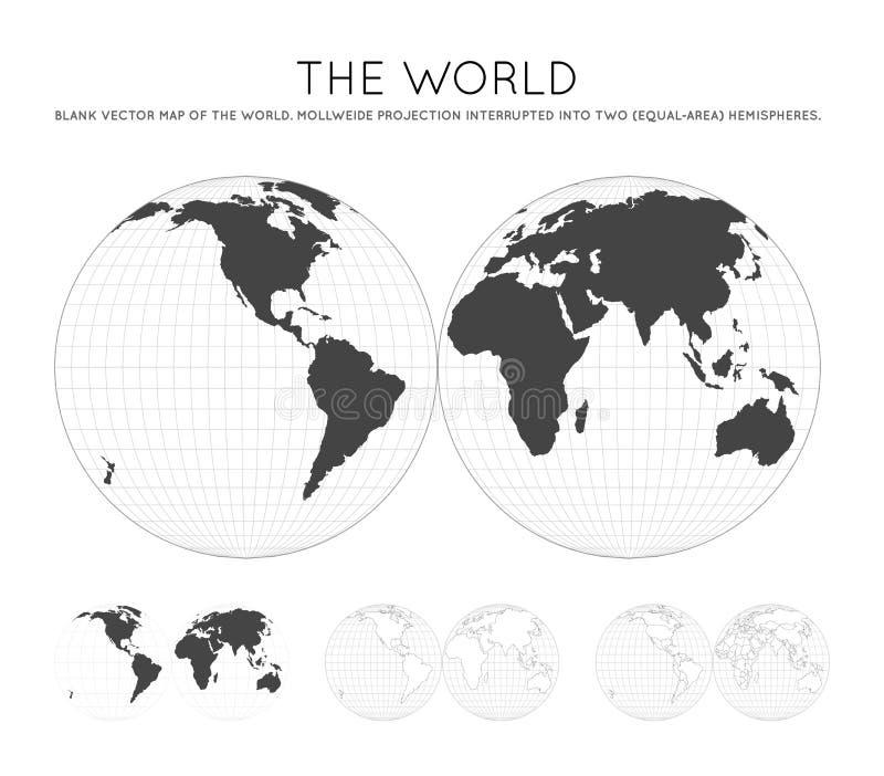 mapa ?wiata royalty ilustracja
