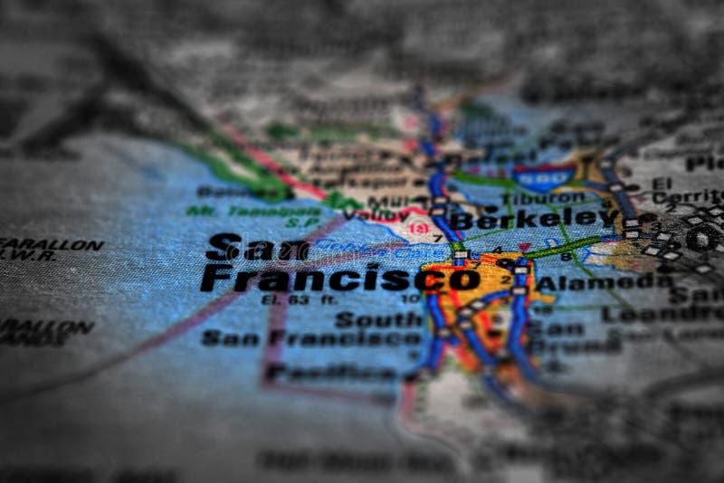 Mapa widok Dla podróży lokacje i miejsca przeznaczenia zdjęcia royalty free