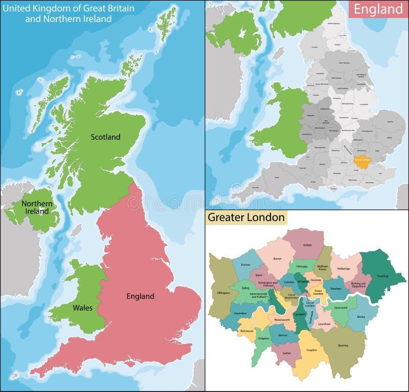 Mapa Wielki Londyn ilustracji