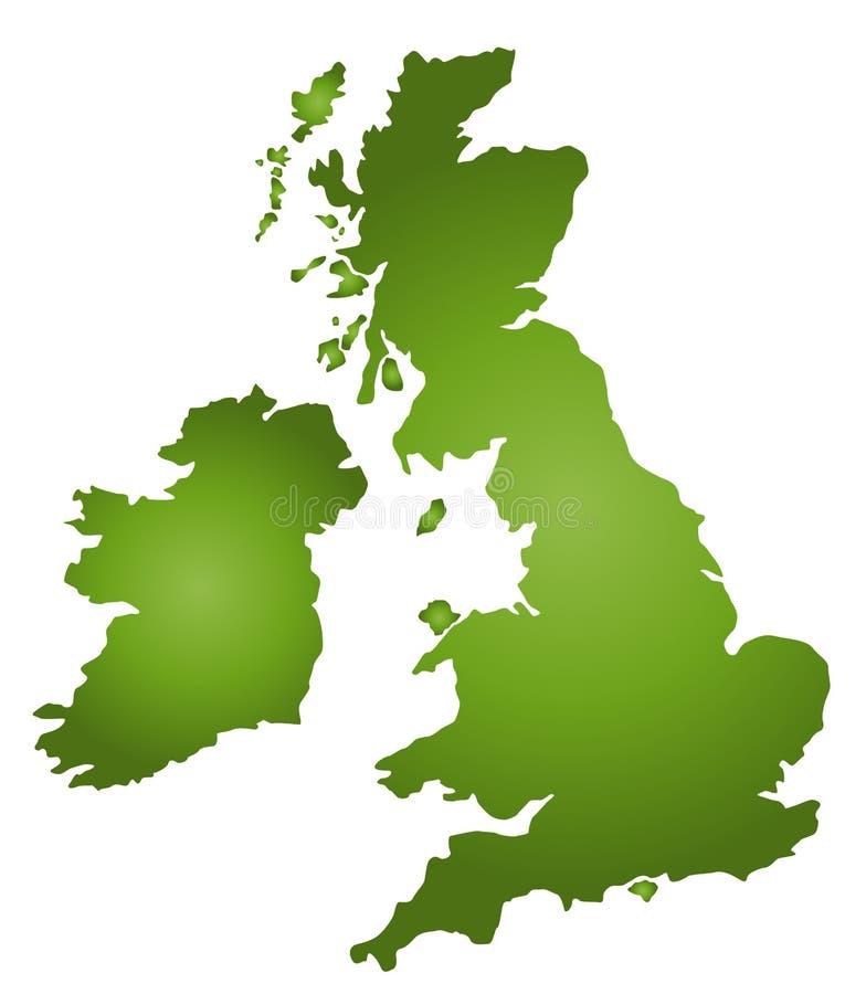 mapa wielkiej brytanii royalty ilustracja