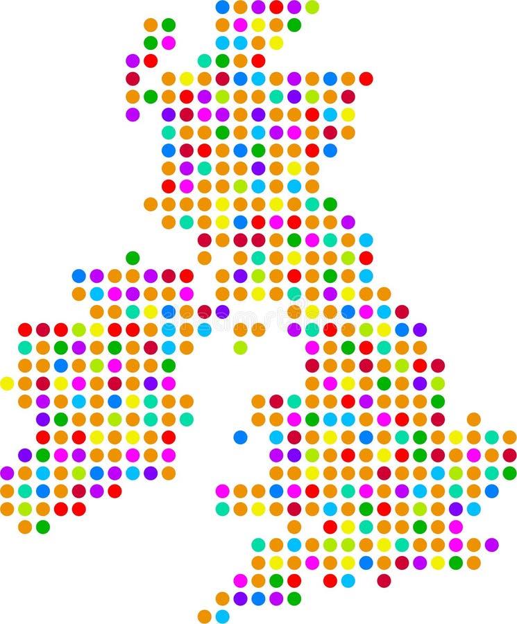 mapa wielkiej brytanii kropki