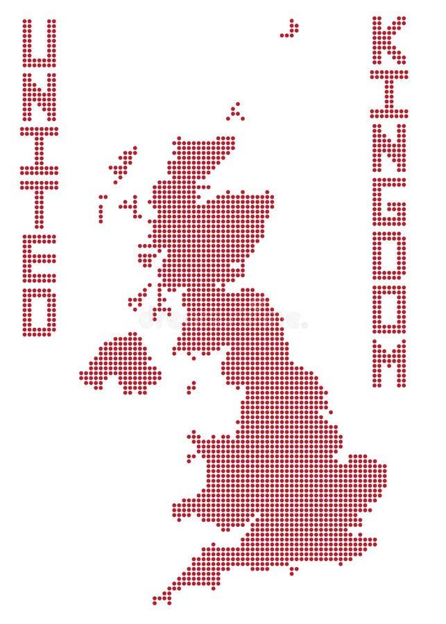 mapa wielkiej brytanii kropki ilustracja wektor
