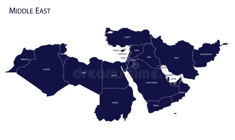 mapa wschodniego środek royalty ilustracja