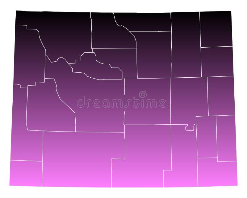Mapa Wyoming ilustracja wektor