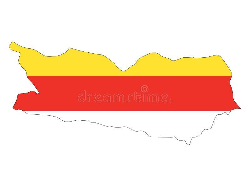 Mapa y bandera combinados del estado austríaco de Carinthia libre illustration