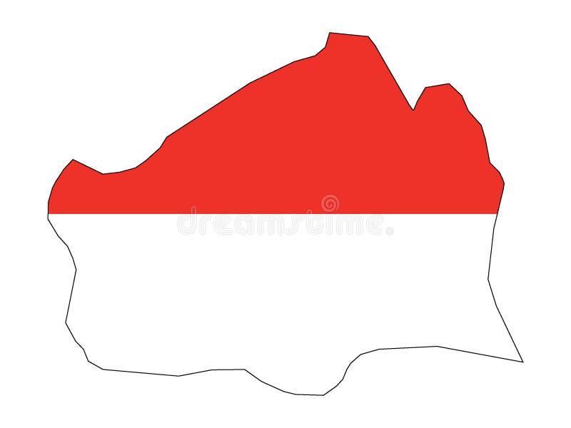 Mapa y bandera combinados del estado austríaco de Viena libre illustration