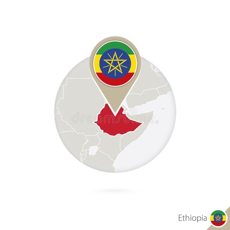 Mapa y bandera de Etiopía en círculo Mapa bandera de Etiopía, Etiopía libre illustration