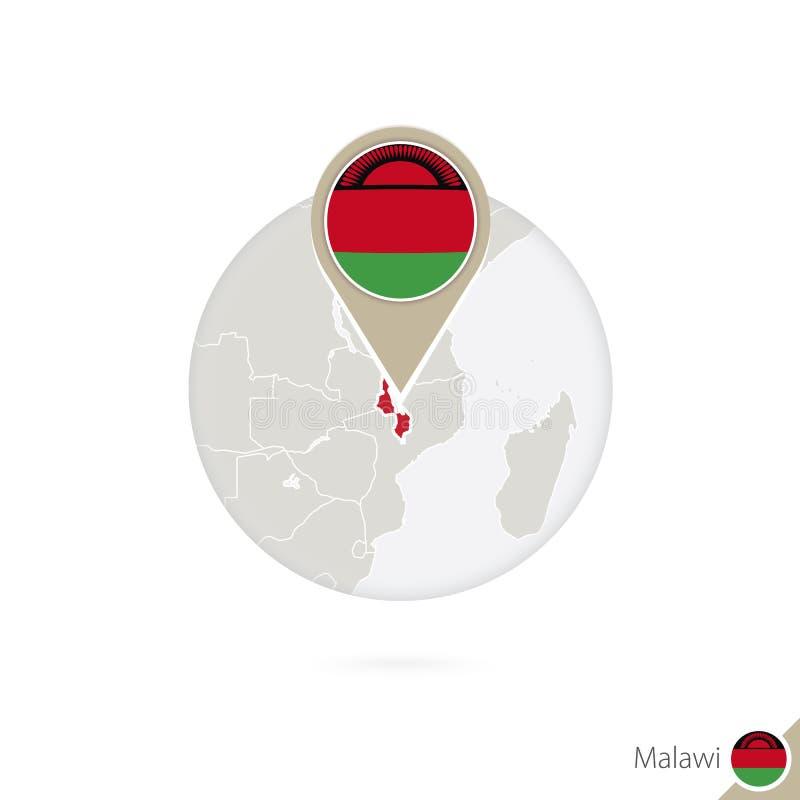 Mapa y bandera de Malawi en círculo Mapa perno de la bandera de Malawi, Malawi M libre illustration