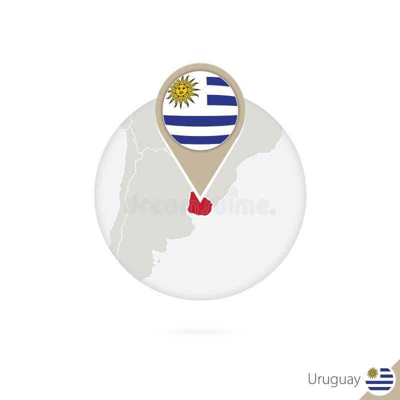Mapa y bandera de Uruguay en círculo Mapa perno de la bandera de Uruguay, Uruguay libre illustration