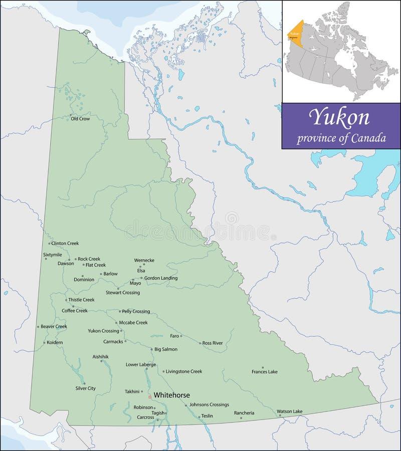 Mapa Yukon ilustracji
