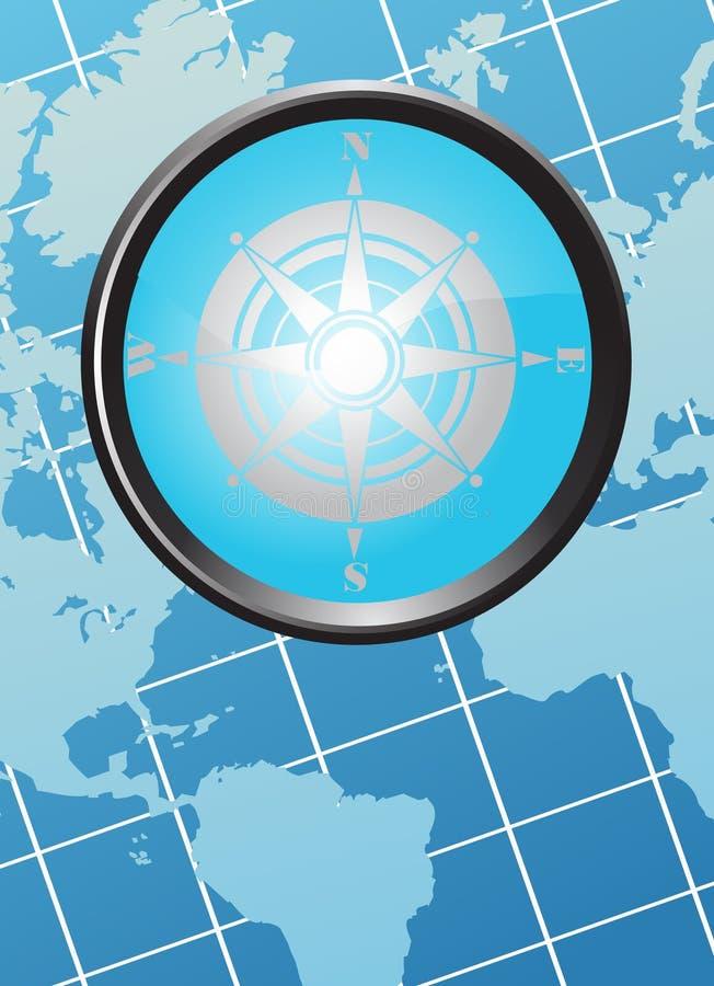 Mapa z kompasem fotografia royalty free