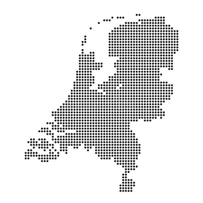 Mapa z kropk? ilustracji