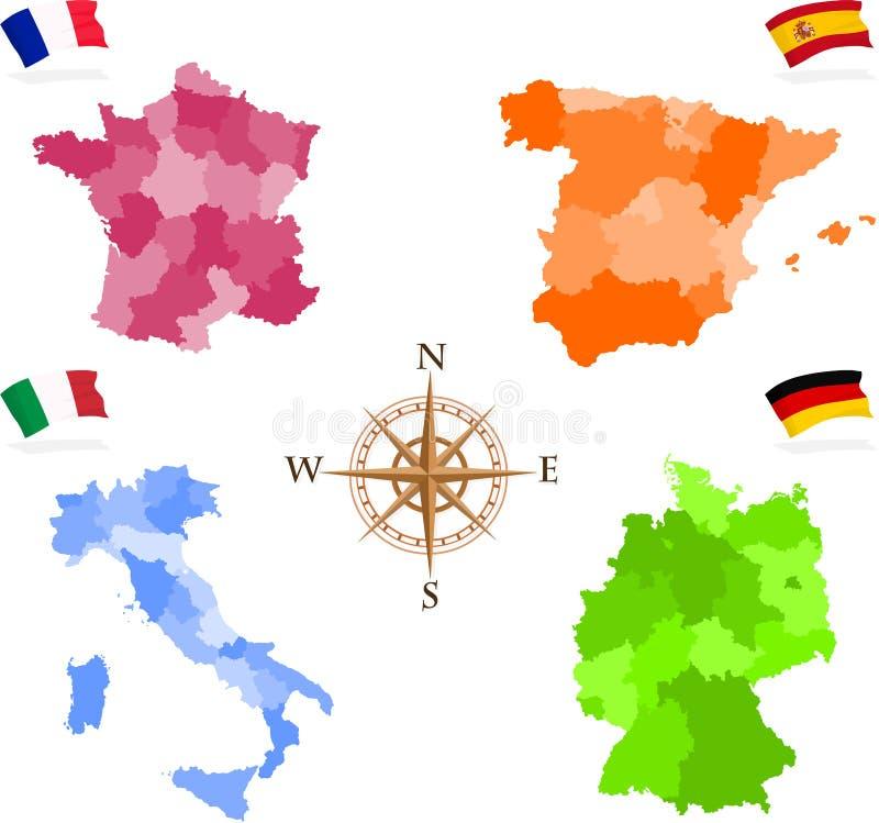 Mapas ilustração royalty free