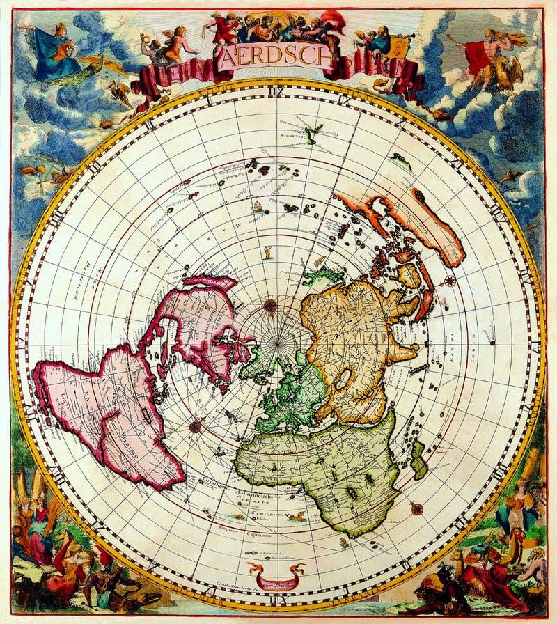 Mapas antiguos del mundo imagen de archivo. Imagen de ...