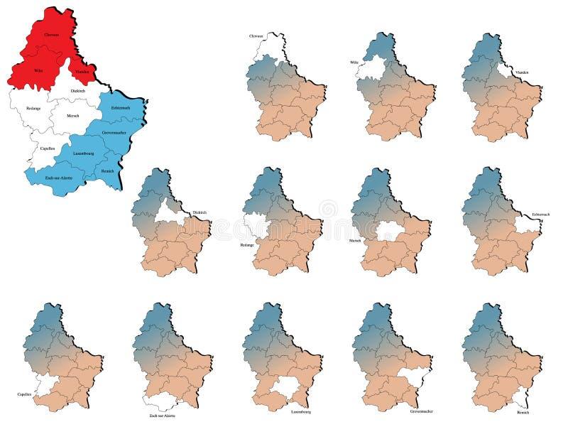 Mapas de las provincias de Luxemburgo