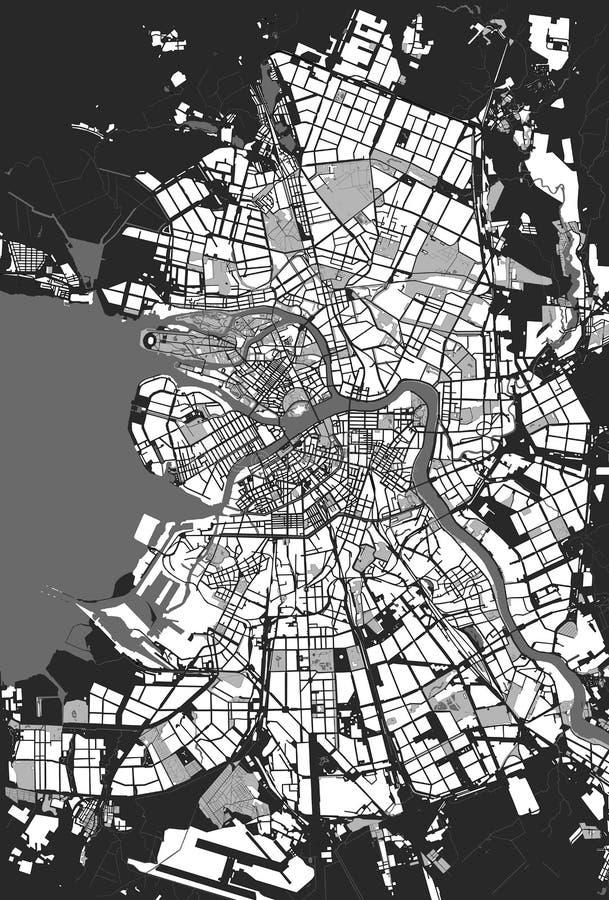 Mapas de St Petersburg ilustração do vetor