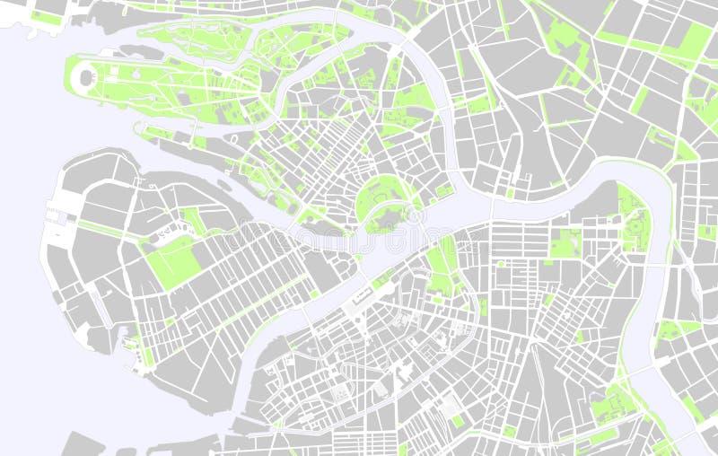 Mapas de St Petersburg stock de ilustración