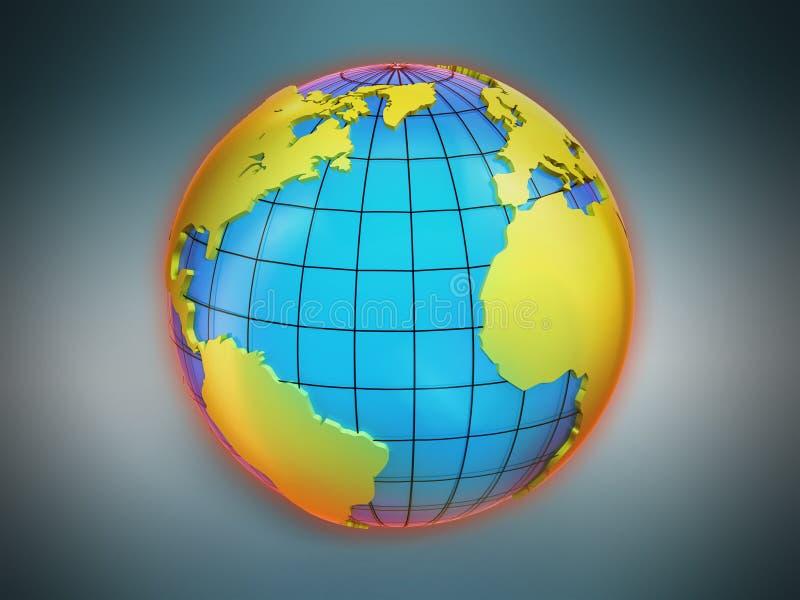 Mapas del globo del mundo ilustración del vector