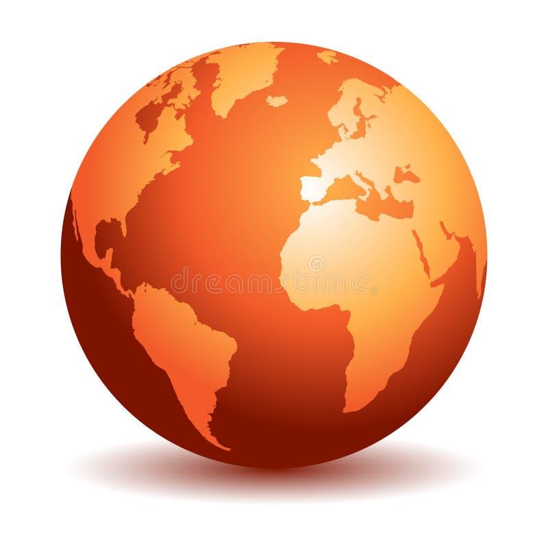 Mapas del globo del mundo stock de ilustración