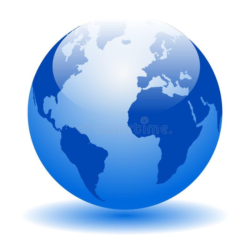 Mapas del mundo del globo stock de ilustración