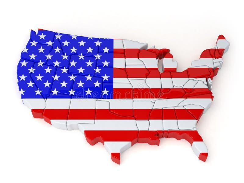 Mapas do Estados Unidos ilustração stock
