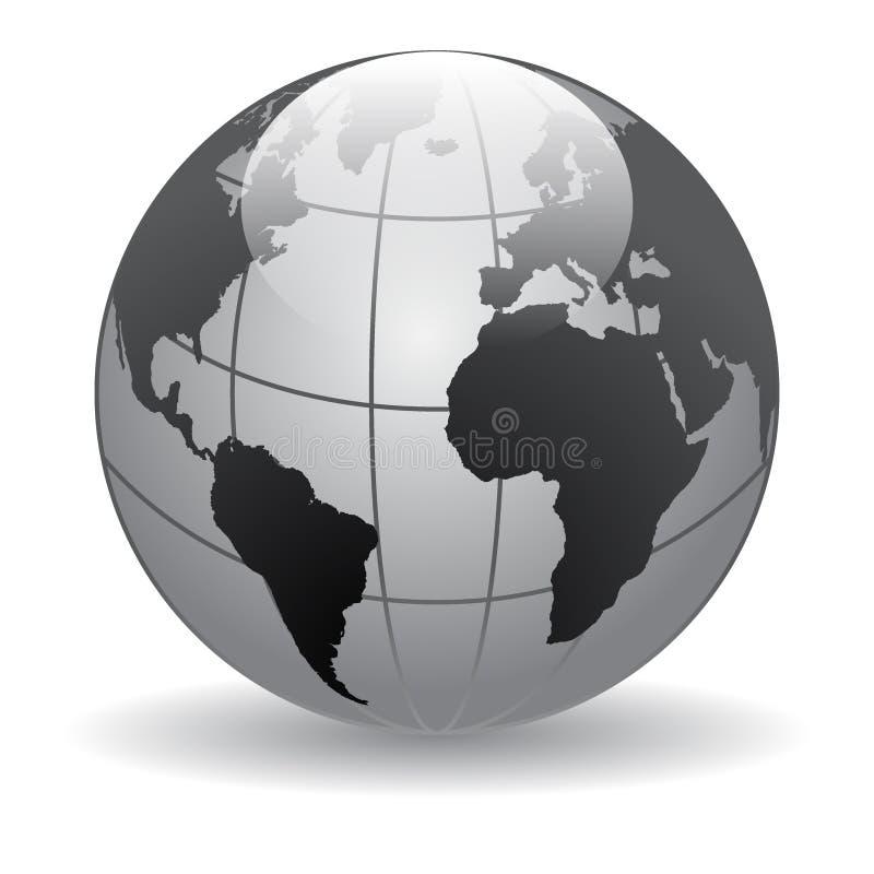 Mapas do mundo do globo ilustração do vetor