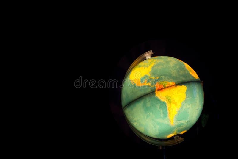 Mapas encendidos globo imágenes de archivo libres de regalías
