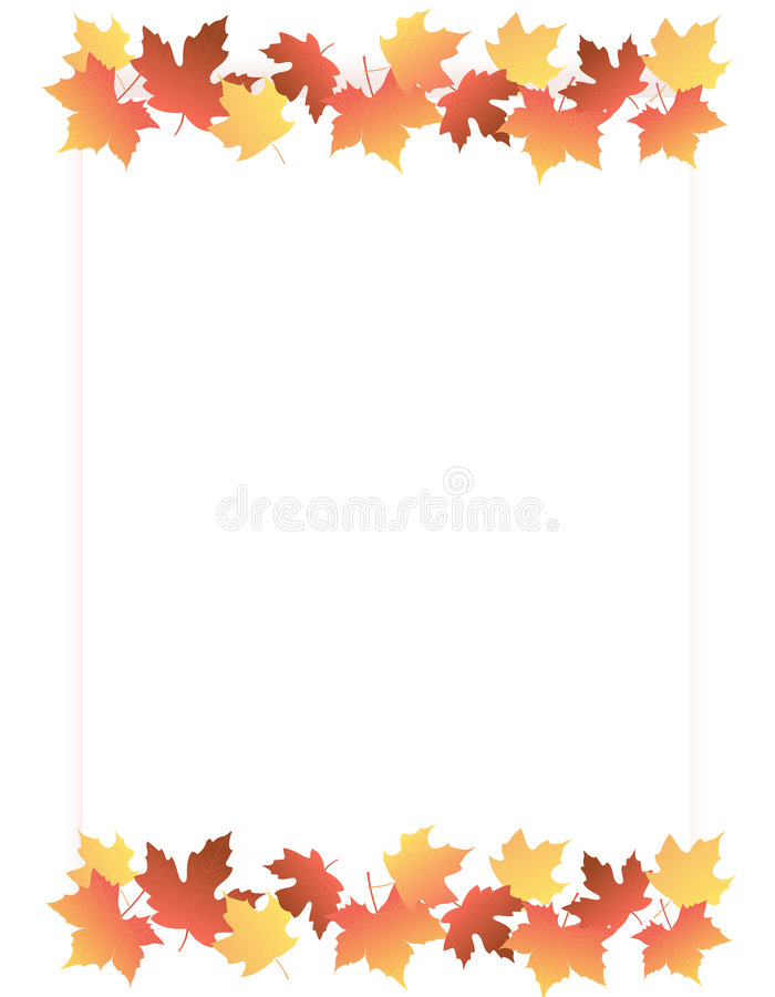 Maple Border / Autumn leaves royalty free stock photography