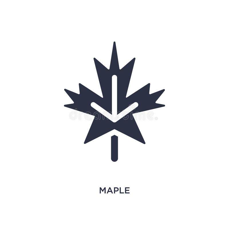 Maple icon on white background. Simple element illustration from nature concept. Maple icon. Simple element illustration from nature concept. maple editable stock illustration