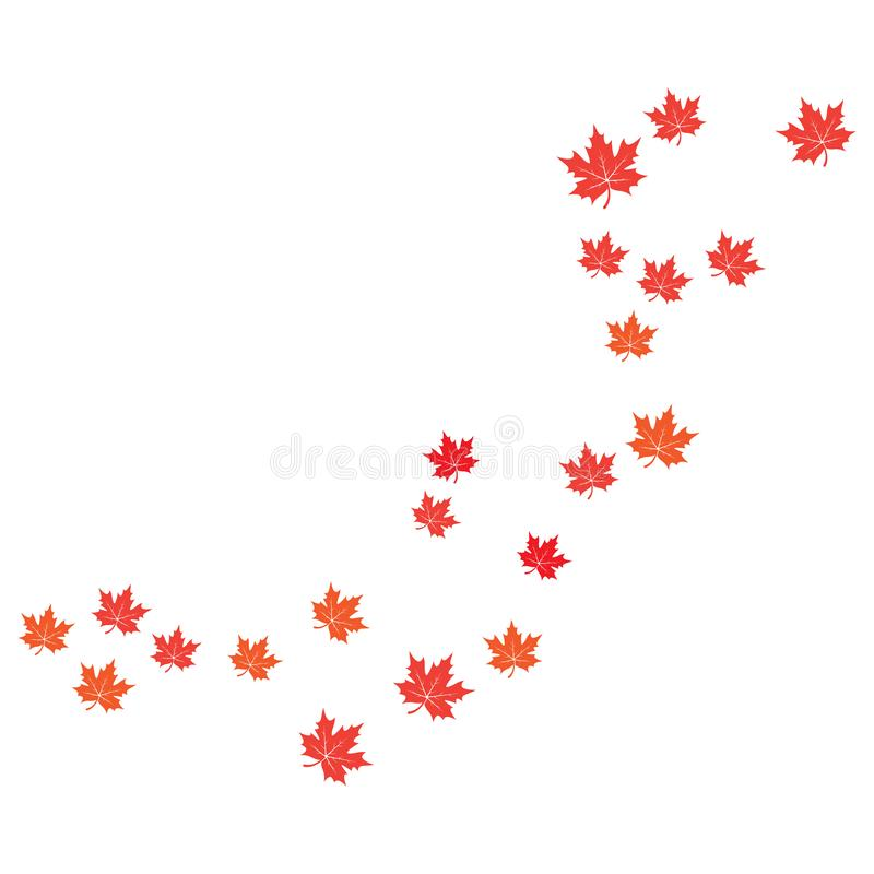 Maple leaf background vector illustration. Design, canada, logo, icon, canadian, white, isolated, nature, art, tree, symbol, element, red, color, graphic, flag royalty free illustration