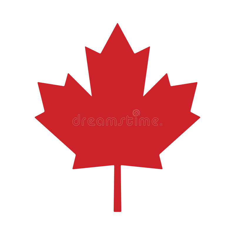 Maple leaf canada vector symbol icon design royalty free illustration