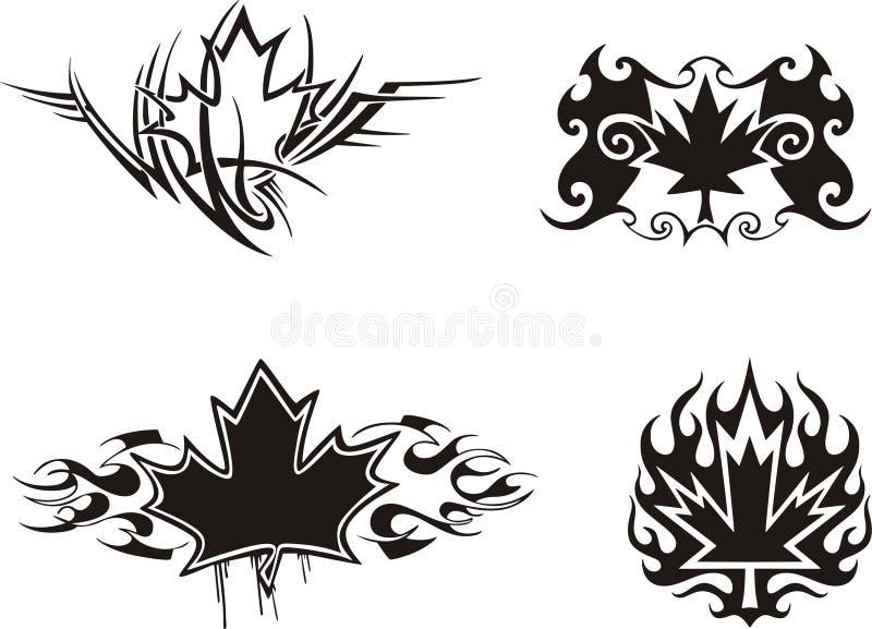Maple Leaf Flames stock illustration