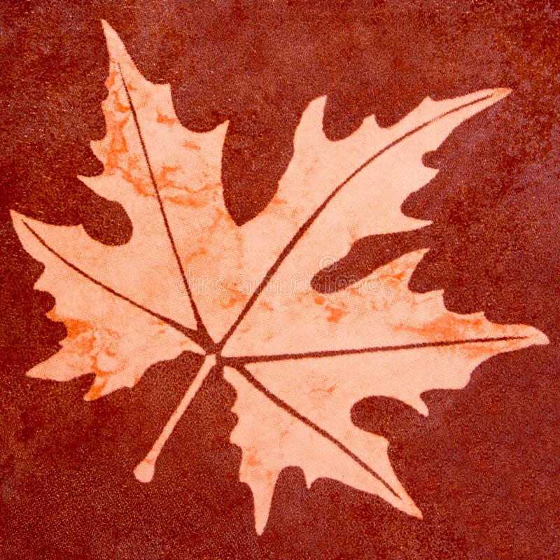 Maple leaf floor tiles style texture background stock image