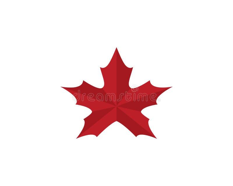 Maple leaf logo template vector icon illustration. In flat design vector illustration